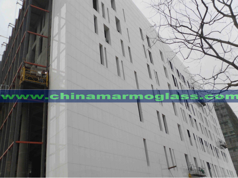 What is Curtain wall materials of Pure white Nano glass
