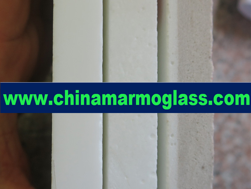 Composite Marmoglass is the Crystal White Glass with Porcela...
