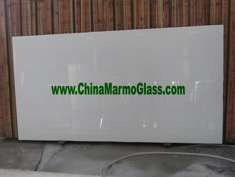 White Marmoglass Slabs