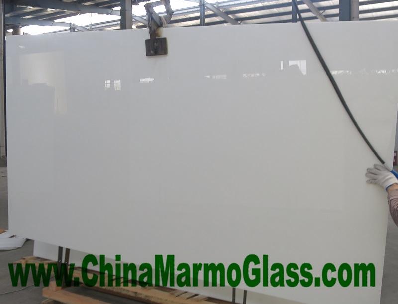 Pure White Artificial Stone Nanoglass Slabs 300x160cm