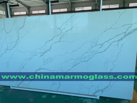 Prefab Artificial Calacatta and Cararra White Quartz Countertop for Kitchen Bathroom Hotel Project