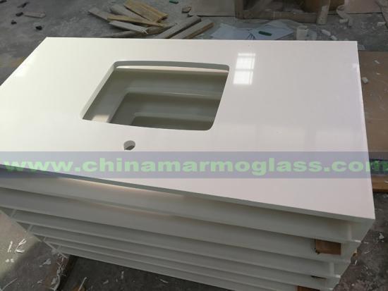 Pure White Quartz Countertops