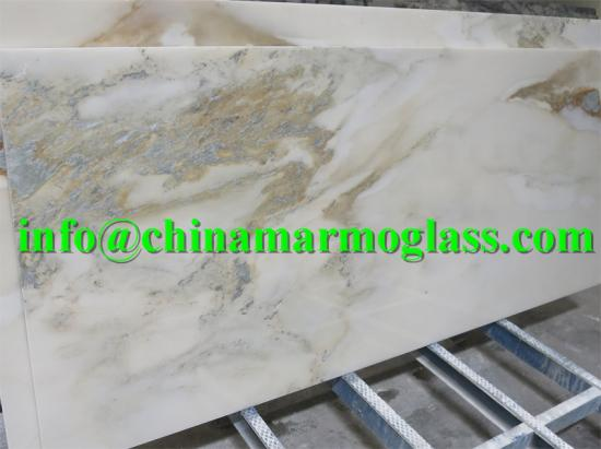 Natural Landscape White Marble Slab for Background