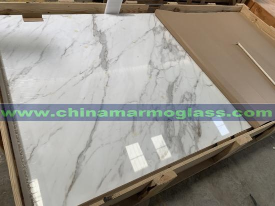 Large Porcelain Slab White Marble Calacatta Ultra Thin Large Format Porcelain Slab For Countertops