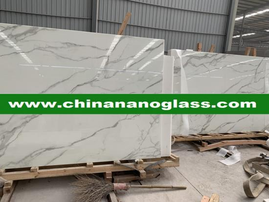 Calacata gold Nanoglass marble price for polish slabs and tiles