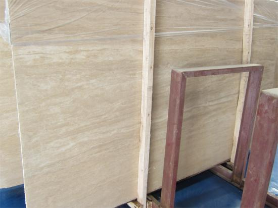 White Travertine Slab Tile for Floor and Wall Cladding