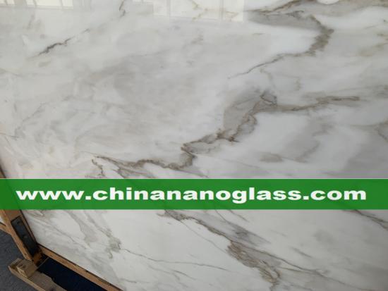 Calacatta White Nano Glass Calacatta White Slab