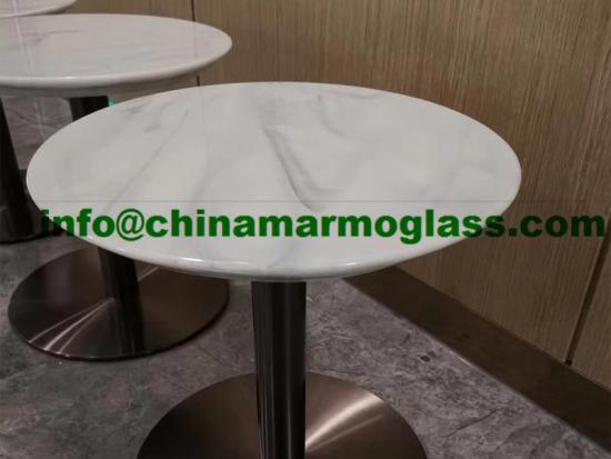 Artificial Nano Crystallized Stone Tabletops Cloudy Veins Surface