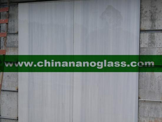 Grey Wood Vein Nano Glass Marble Slabs 300x160x2CM