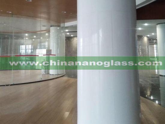 White Marmoglass Column Cladding