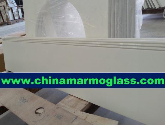 Marmoglass Super White Marble Stairs Step