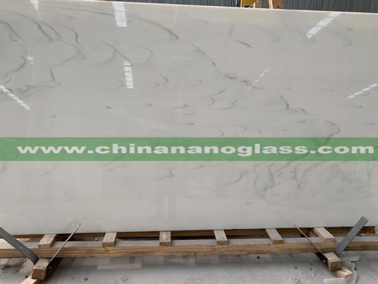 Calacatta White Nano Glass Stone Slab