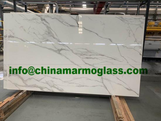 Calacatta vs Calacatta Gold Nano Glass Slab