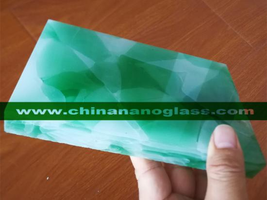 Mix Colors of 3D Marmoglass Glass2 With White and Green Color