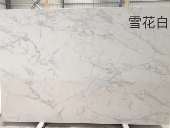 Artificial Calacatta White Marble Slabs For Countertop