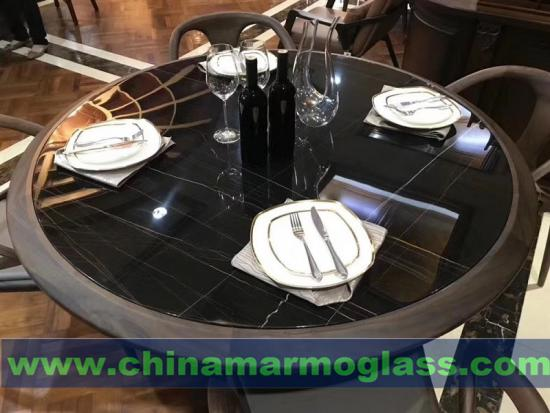 Tunisia Lauren Black Gold Marble Tabletops