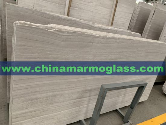 Chinese White Wood Vein Marble Slabs Cheap Factory Price