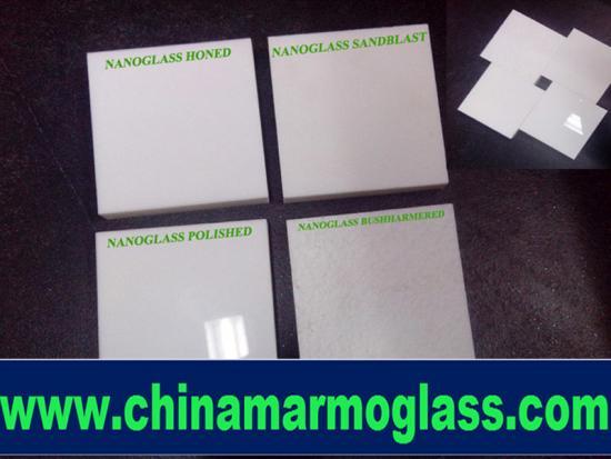 Super Nano Glass White Crystallized Glass Stone Panel Nanoglass