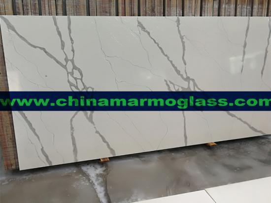 Calcutta White Quartz Stone Slab thickness 20mm