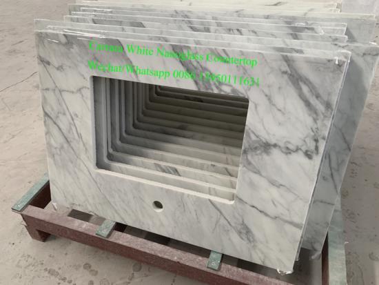 Popular Carrara White Nanoglass Countertops