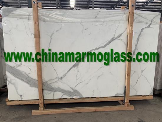 China Nanoglass CNG9937 marble look color slabs