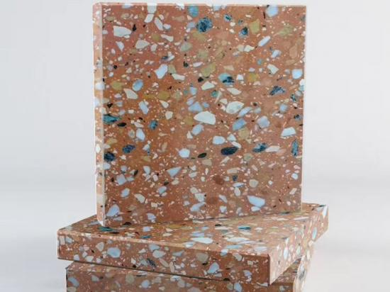 Bathroom Concrete Artificial Terrazzo Floor Tiles