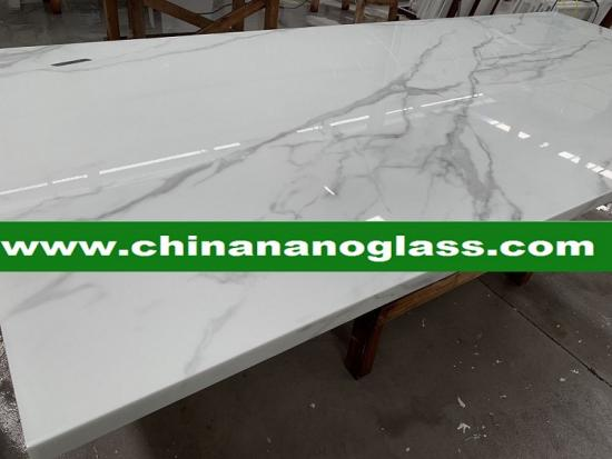 Nano glass Calacatta kitchen top and countertop