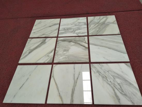 Luxury Polished Calacatta Statuario Marble Slab and Tiles