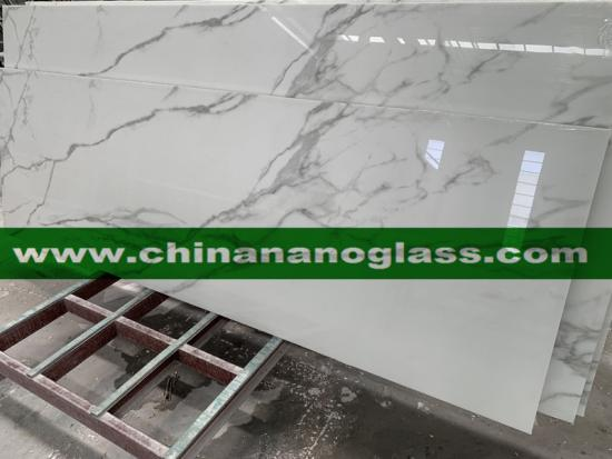 Calacatta Nanoglass Calacatta Slab the 100% recycled glass slabs