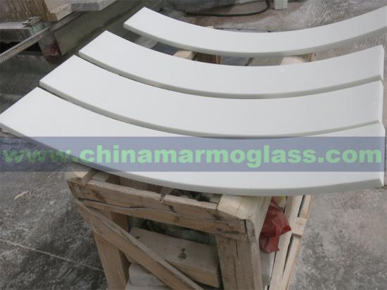 High Quality Crystal Glass Column Marmoglass Column