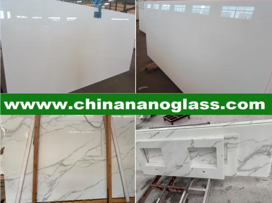 Nano Glass White Slabs 2860x1640x12mm