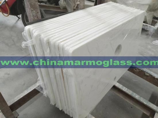 Nano White Glass Countertops
