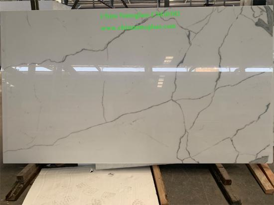 Calacatta White Nano Crystallized Glass Stone Slabs CNG0302