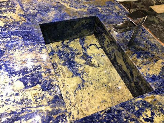 Bolivia Blue Quartzite Slabs Tiles for Countertop Home Hotel