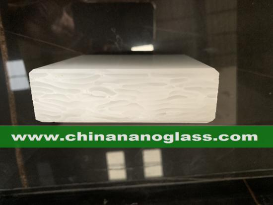 3CM Pearl White Glass2 Recycled Glass Slabs