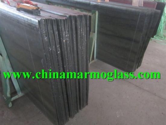 black nano glass hotsale decorative pure black crystallized glass stone