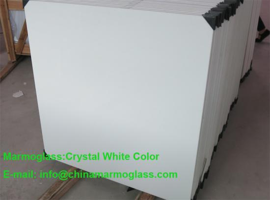Marmoglass Crystallized White GLass Tiles 100x100CM