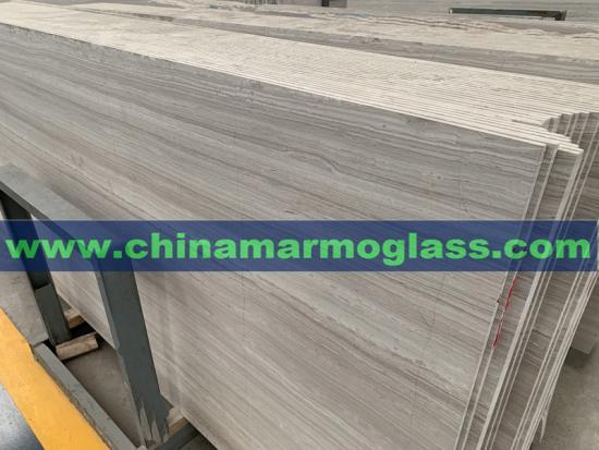 1CM White Wood Grain Marble Big Slabs