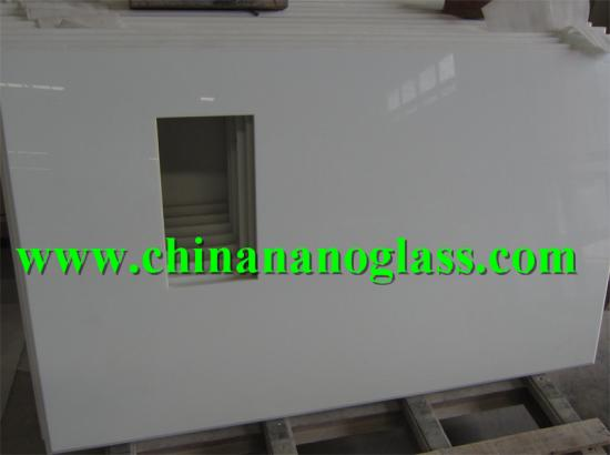 high quality nano white crystallized glass stone factory price