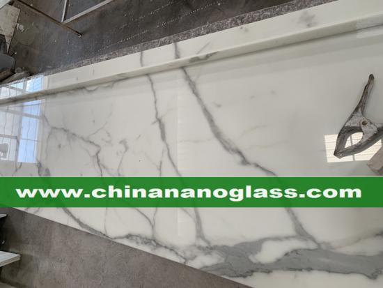 New Calacatta Nano Glass Stone Kitchen tops Calacatta Nano Glass vanity tops