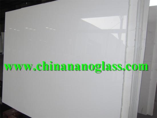 Marmo White Glass Slab 320x160cm