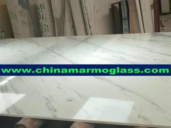 quality polishing artificial calacatta white marble