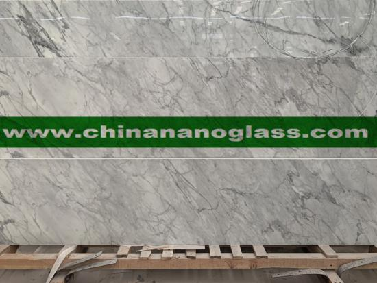 Carrara White Nano Glass Slab