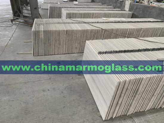 China White Wood Grain Marble Tiles China Serpeggiante Marble Tiles 1200x600x15mm