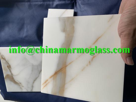 New arrival latest design Nano Glass Calacatta Gold Slab