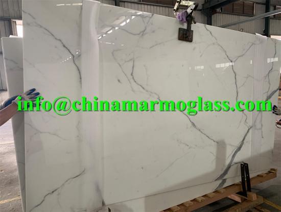 Artificial Stone Crystal Calacatta Nano Glass