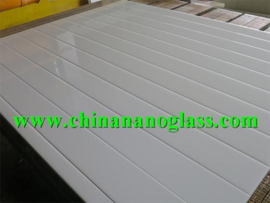 nano glass 3rd generation nano crystal white glass stone Slab
