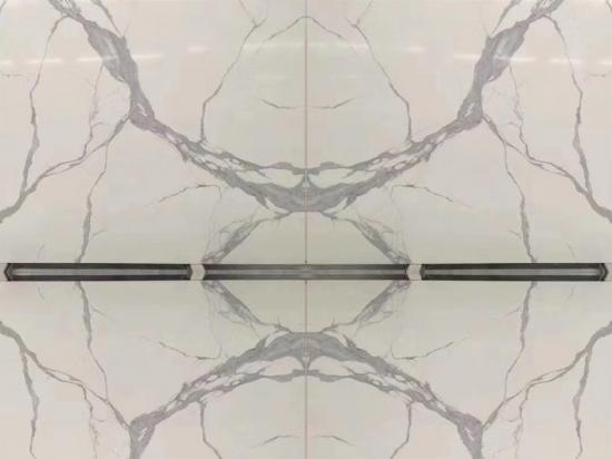 China Artificial Calacatta White Engineering Marble for Countertops and Vanitytops