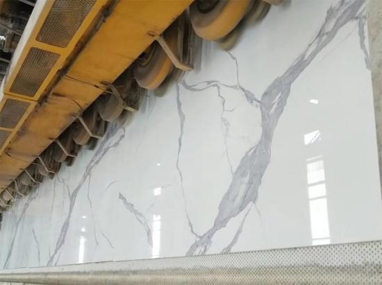 China Artificial marble calatatta White for Countertops