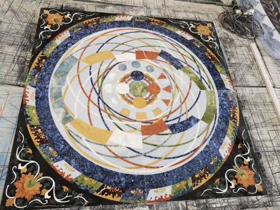 Marble Pattern Flower Waterjet Stone Mosaic